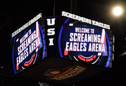 Screaming Eagles Arena video board