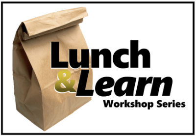 Lunch and Learn workshop series with brown bag lunch